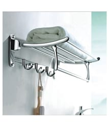 Handy Stainless Steel Folding Towel Rack-18 Inches