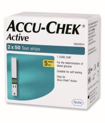 Accu-Chek ACTIVE 100 TEST STRIPS ( 2 X 50 ) Expiry September-2019