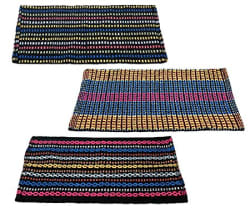 Story@Home Traditional Style Eco Series Cotton Blend 3 Piece Door Mat - 16\