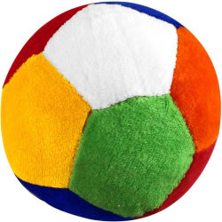 Casotec Stuffed Soft Toy Plush Ball - 9 cm (Multicolor)