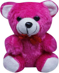 Casotec Cute Teddy Bear Stuffed Soft Plush Soft Toy - 14 cm (Hot Pink)