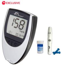 Dr Morepen Glucose Monitor BG-03(Grey Color) + 25 Test Strips Free