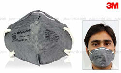 3M Anti-Pollution Bike/Scooter Riding / Driving Face Mask-Grey