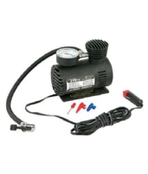 Riyas Black Plastic Tyre Inflator Air Pump Compressor
