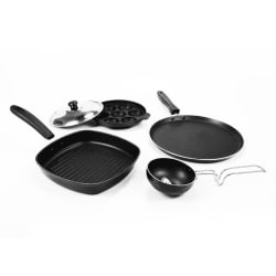 Sumeet Pentamerous Nonstick Gift Set, multicolor