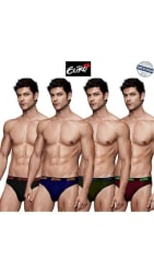 Euro Micra Pack Of 4 Assortedcolor Cotton Briefs