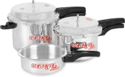 Surya Accent Super Saver combo pack 5 L, 3 L, 2 L Pressure Cooker (Aluminium)