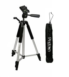 Photron Tripod Stedy 450 with 4.5 Feet Pan Head + Extra Quick Release Plate + Foam Grip + Carry Case