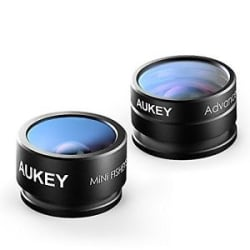 Aukey 2 in 1 Mini Clip-on Cell Phone Camera Lens Kit - Imported