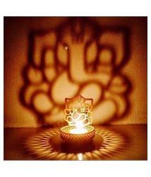 Indigo Creatives Lord Ganesha Diwali Puja Decoration Diya Tea light Table Shadow Lamp