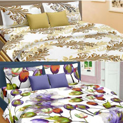 Cortina Premium Set Of 2 Bed Sheet (PRDP-030), multicolor
