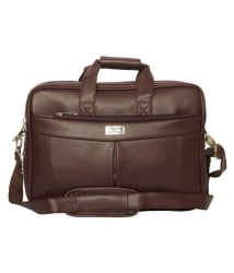 SSTL Brown Leather Office Messenger Bag/Side Bag