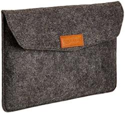 AmazonBasics 11-inch Felt Laptop Sleeve (Charcoal)