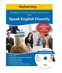 Interactive Multimedia Content For Speak English Fluently DVDs Combo Pack by SKYLearning