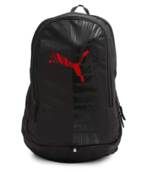 Puma Branded Backpack College Bag School Bags 25 Litres Red Graphic