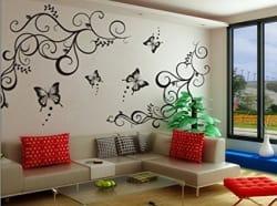 Decals Design  Lovely Butterflies  Wall Sticker (PVC Vinyl, 60 cm x 90 cm, Black)