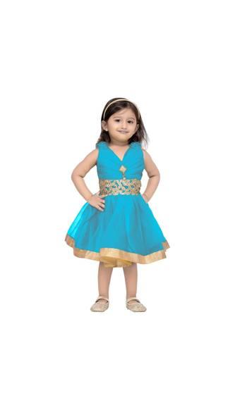 f5e2f3924 Aarika Baby Girl Net Solid Princess Frock - Multi