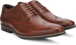Peter England PE Lace Up Shoes For Men (Brown)
