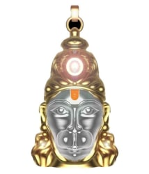 Everything Imported White Hanuman Chalisha Yantra Locket