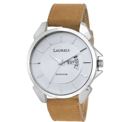 Laurels Invictus 8 Analog White Dail Men Watch With Additional Strap (Lo-Inc-801s)
