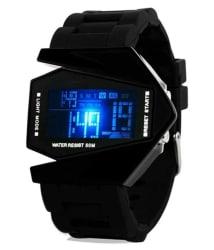 SMC Black Digital LED Watch