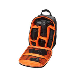 Lightweight Waterproof DSLR Backpack Case Bag Orange For Canon Camera