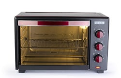 Usha OTG 3619R 19L Oven Toaster Grill (Wine & Matte Black)