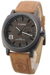 2017 Latest Fashion Curren 8139 Leather Strap Military wrist Watch
