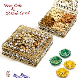 Aapno Rajasthan Floral Design Jaal Pattern Dry Fruit Box