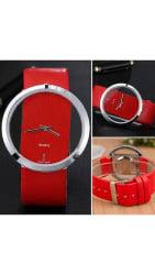 Women s Big Dial Transparent Hollow Skeleton Wristwatch