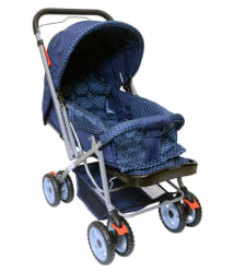 Happy Kids Pram Stroller With Reversible Handle