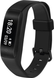 Lenovo HW01 Smart Band with Heart Rate Monitor (Black Strap, Size : Regular)