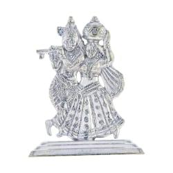 Sri Jagdamba Pearls Silver Radha Krishan Idol