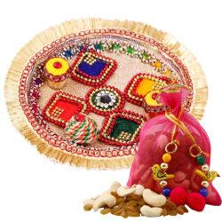 Creativity Centre Diwali Bhai Dooj Glossy Tikka Thali N Dryfruit