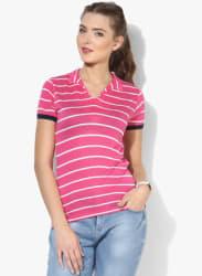 Pink Striped T Shirt
