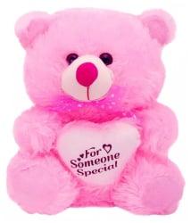 ADS Toys Pink Teddy bear stuffed love soft toy for boyfriend, girlfriend - 35 cm