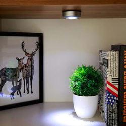 Details about Cordless 3-LED Under Cabinet Wardrobe Tap Push Lamp Touch Night Light Silver