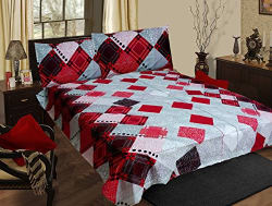 Homefab India Cotton Double BedSheet with 2 Pillow Covers