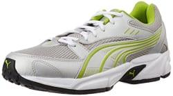 Puma Men s Pluto DP Puma Silver-Lime Punch Running Shoes - 7 UK/India (40.5 EU)