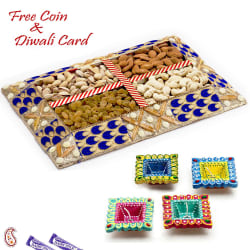 Aapno Rajasthan Blue & Gold Dryfruit Gift Pack