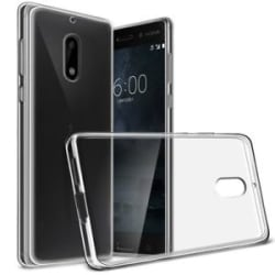 Perfect Fitting Transparent Silicon Back Cover for Nokia 6