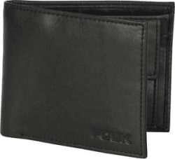 French Connection FCUK Men Black Genuine Leather Wallet - 70% OFF - Bill