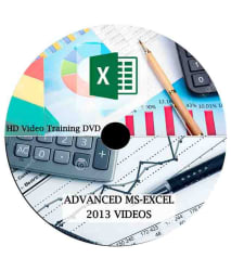 Comprehensive MS Excel 2013 From Beginner to Advanced Level DVD HD Video Lecture (51 Video Lectures) 17 hours video