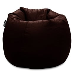 Story@Home XL Leatherite Single Seating Tear Drop Bean Bag Chair Cover Without Filler, Chocolate Brown
