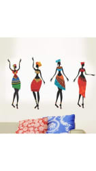 WallTola Colorful African Women Wall Sticker