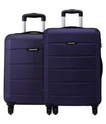 Safari Re-Gloss Anti Scratch Purple Set of 2 Small, Medium Trolley Bag Hard Branded Luggage