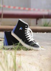 Fila DELTA Mid Ankle Canvas Shoes For Men (Black)