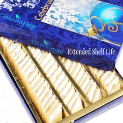 Punjabi Ghasitaram Bhaidhooj Gifts Sweets Sugarfree Pure Kaju Katlis Box, 800 gm