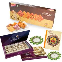 Bikano Diwali Gifts Assorted Chikki And Kaju Katli
