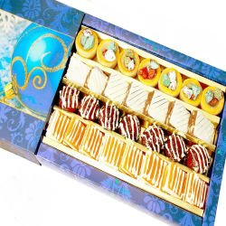 Punjabi Ghasitaram Diwali Gifts Sweets Assorted Exotic Cashew Sweets, 800 gms